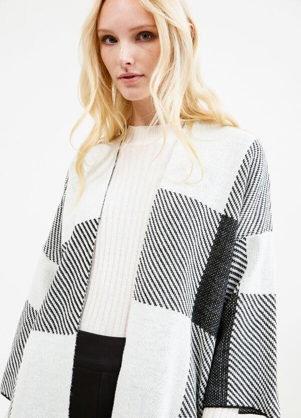 Check cardigan with kimono sleeves | OVS