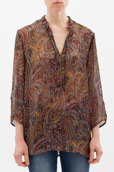 Kaftan with multi-coloured print, Multicolour, hi-res