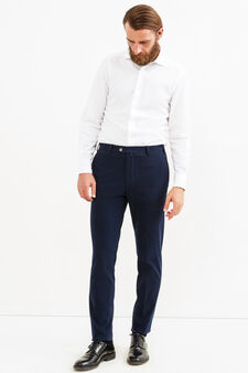 Rumford trousers with crease, Blue, hi-res