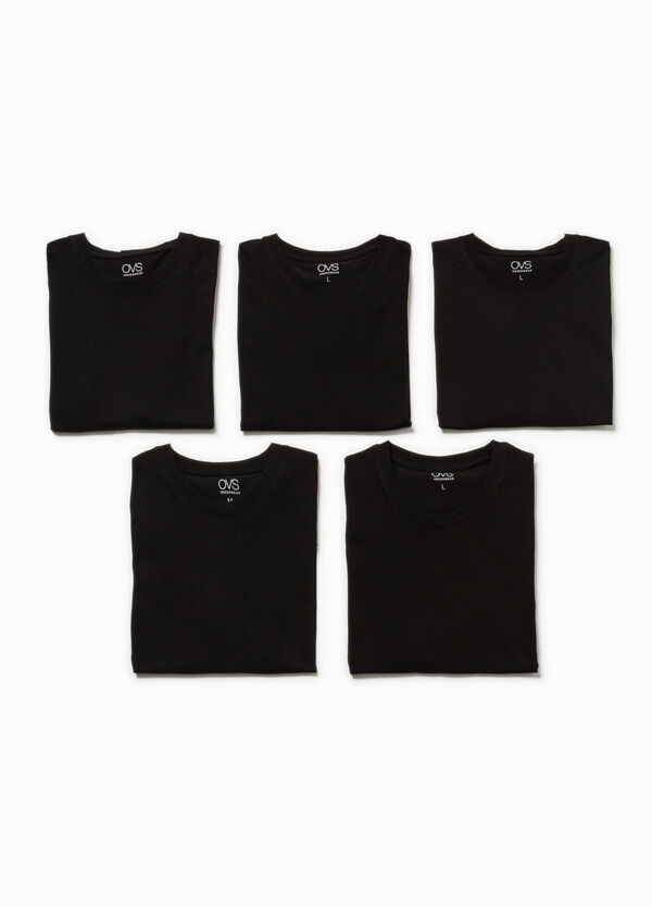 Five-pack undershirts with round neck | OVS