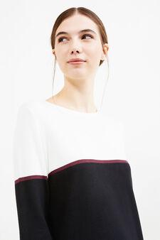 Viscose blend dress with long sleeves, Black, hi-res