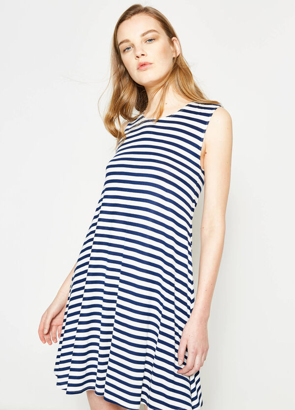 Striped sleeveless dress | OVS