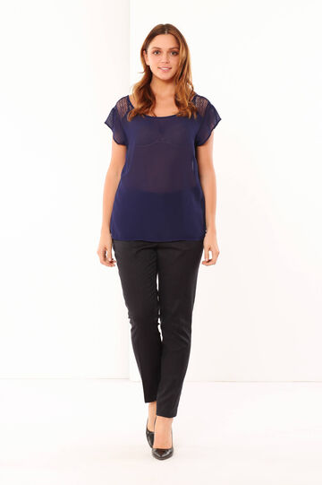 Curvy blouse, Navy Blue, hi-res