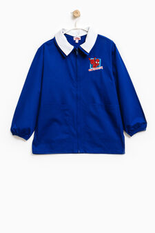 Smock with Spiderman patch and zip, Royal Blue, hi-res