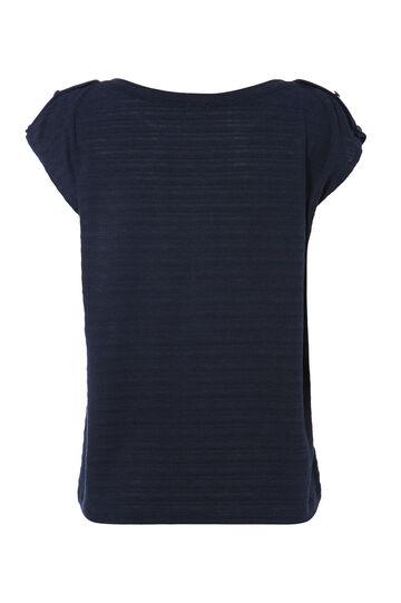 Smart Basic T-shirt in viscose blend, Navy Blue, hi-res