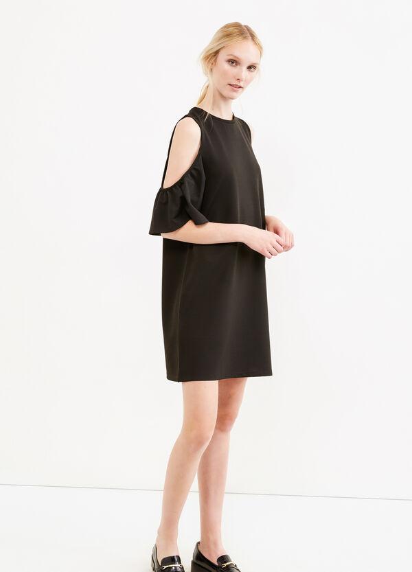 Short stretch dress with flounces | OVS
