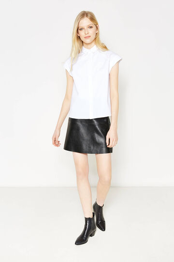 Shirt in stretch cotton, White, hi-res