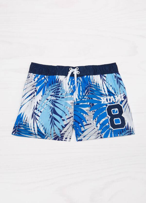 Swim boxer shorts with embroidery and print | OVS