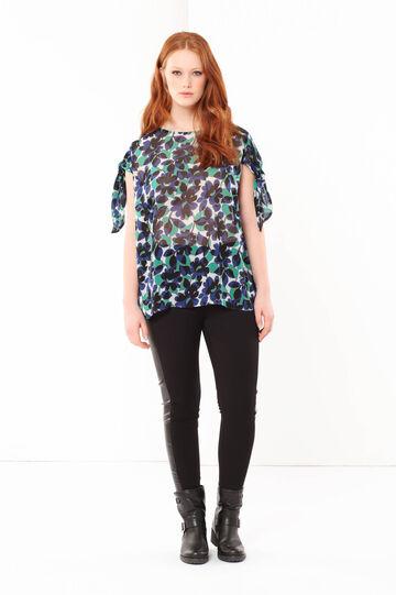 Blusa floreale Curvyglam, Multicolor, hi-res