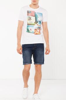 T-shirt a maniche corte, Bianco stampa 2, hi-res