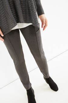 Curvy stretch cotton leggings, Slate Grey, hi-res