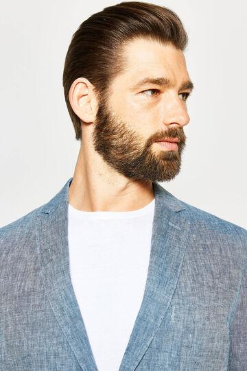 Slim-fit elegant 100% linen jacket