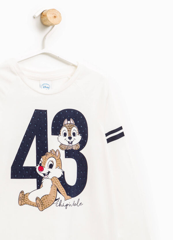 Striped T-shirt with Chip 'n' Dale print | OVS