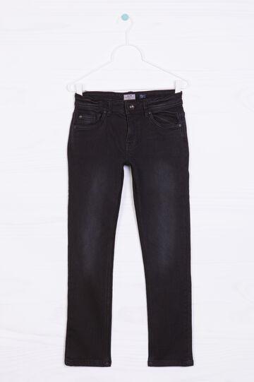 Jeans stretch effetto delavé, Nero, hi-res