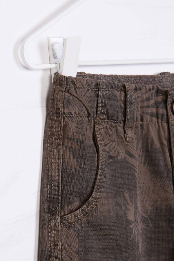 Patterned cotton Bermuda cargo shorts | OVS