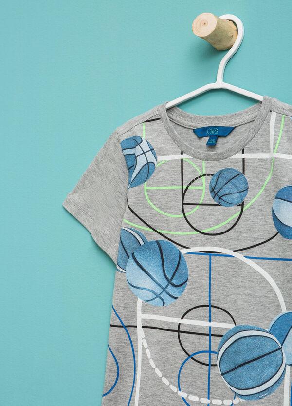 T-shirt mélange con maxi stampa | OVS