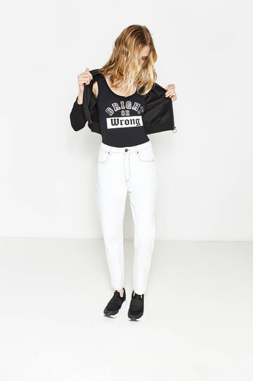 Stretch cotton printed bodysuit
