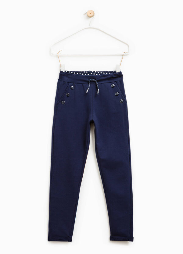 Cotton trousers with turn-ups | OVS
