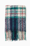 Fringed scarf, Blue/Green, hi-res