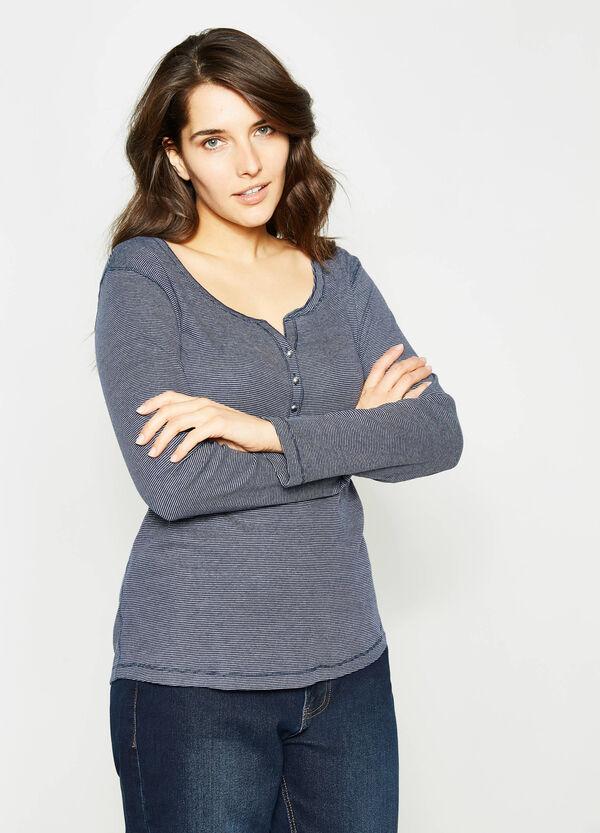 T-shirt in puro cotone a righe Curvy | OVS
