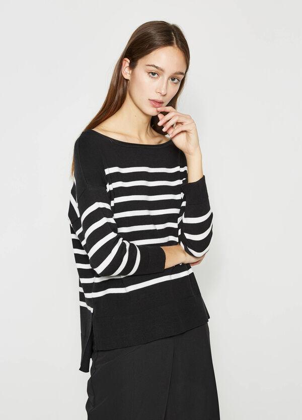 Jersey de rayas en algodón elástico | OVS