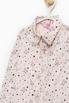 100% viscose patterned shirt, Pink, hi-res