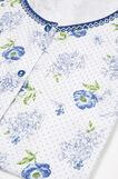 Pigiama puro cotone floreale, Bianco/Blu, hi-res