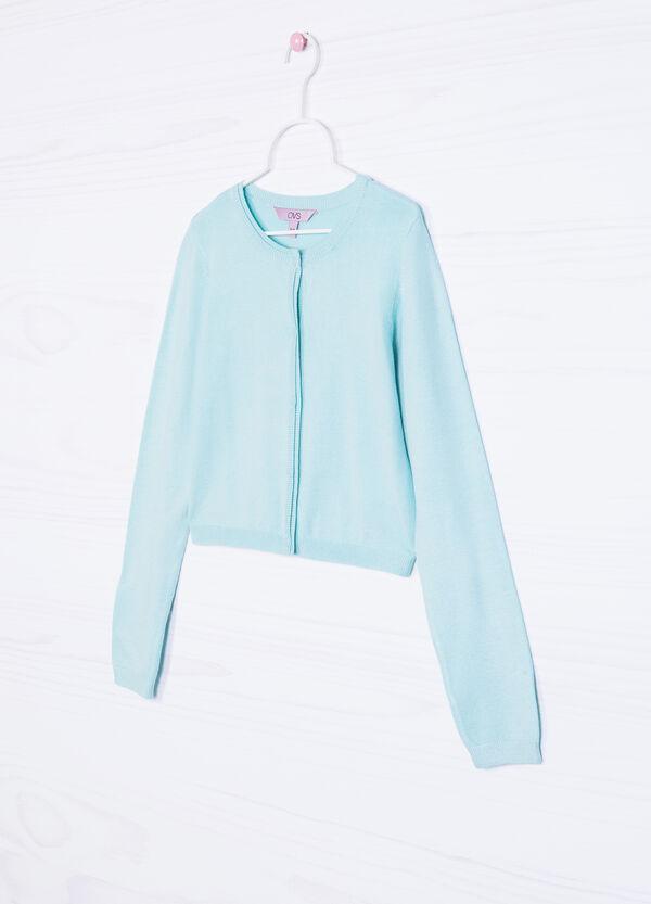 Cotton blend knitted shrug | OVS
