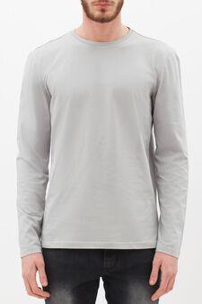 Plain long-sleeved T-shirt, Light Grey, hi-res