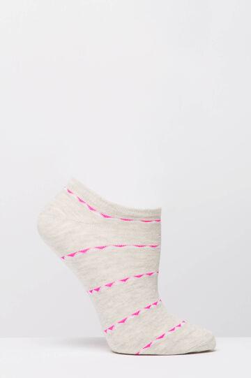 Two-pack short patterned socks, Fuchsia, hi-res