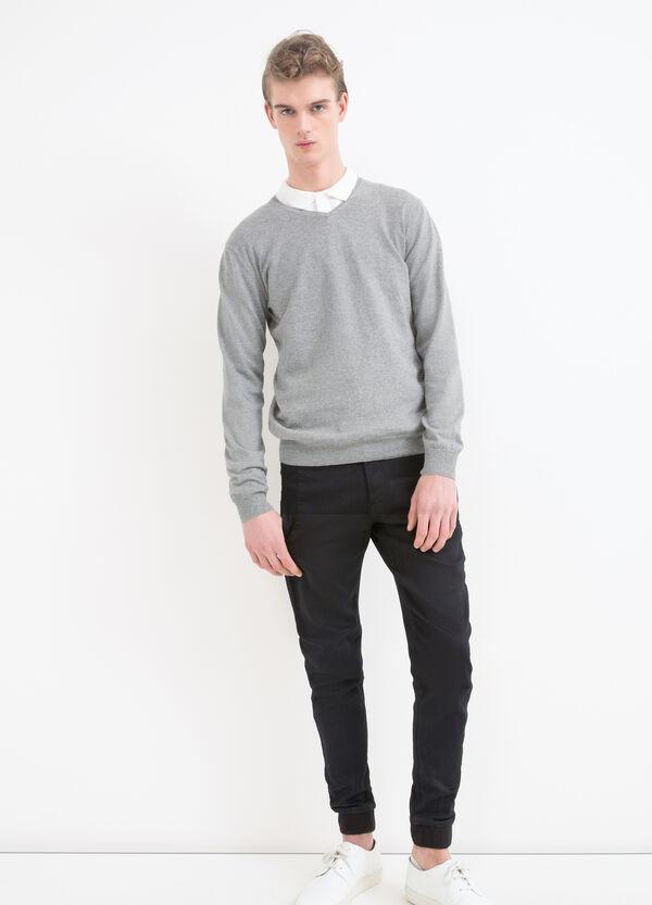 Pullover scollo a V puro cotone | OVS