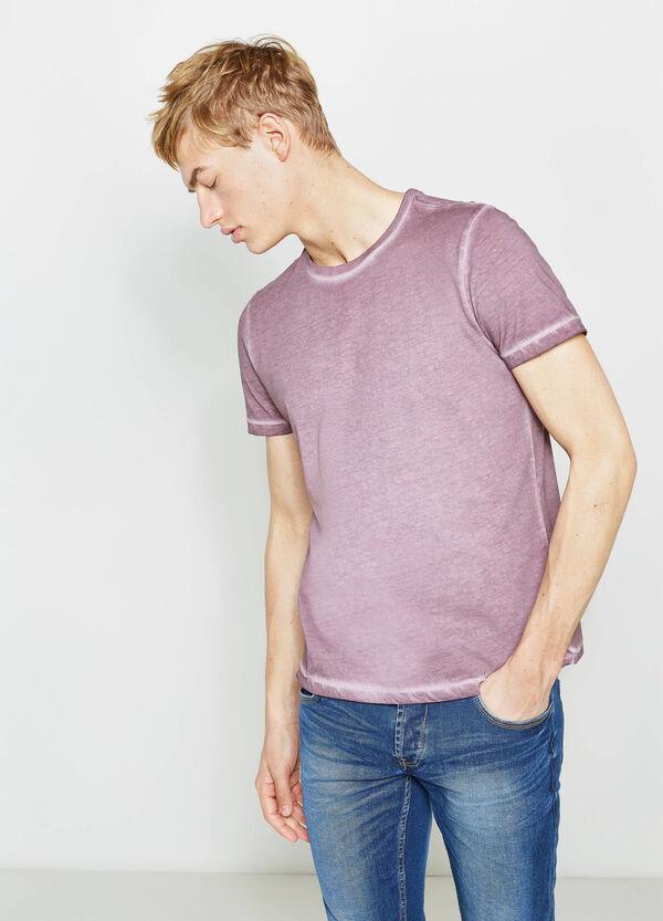 T-shirt con cuciture effetto delavato   OVS