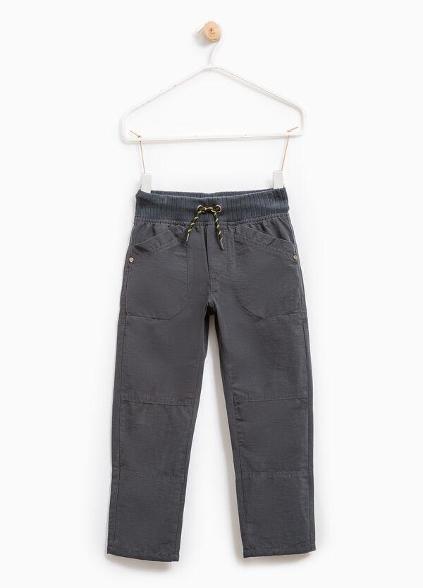 Pantaloni misto cotone con tasche | OVS