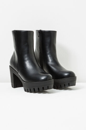 Ankle boots with platform, Black, hi-res