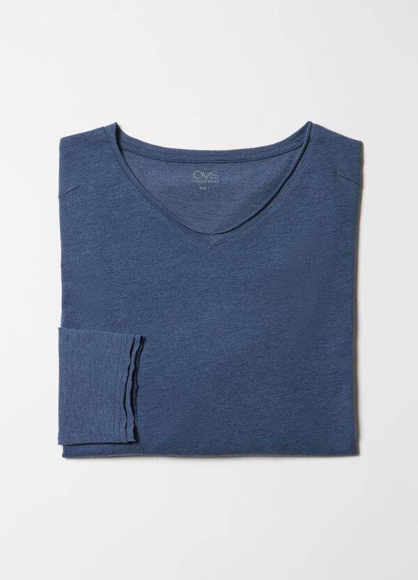 Stretch viscose blend pyjama top | OVS