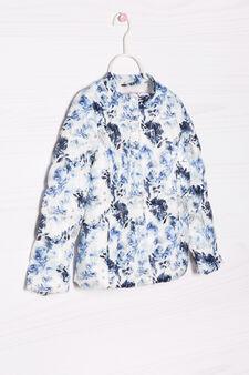 Patterned light down jacket, Multicolour, hi-res