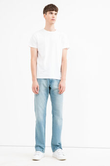 Faded-effect comfort fit jeans, Light Wash, hi-res