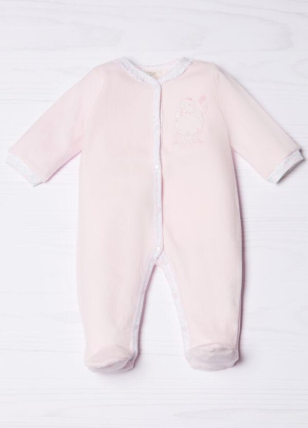 Cotton blend onesie with feet | OVS
