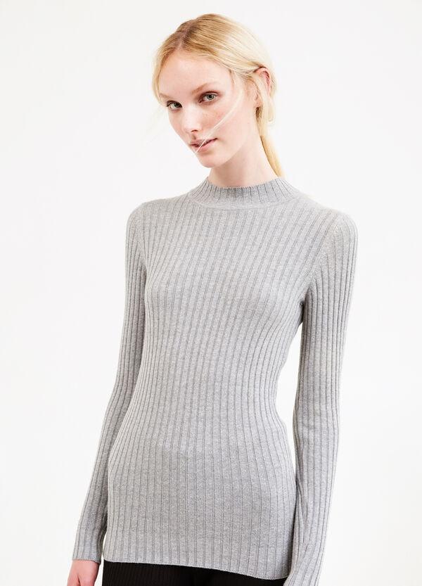 Lupetto in costina cotone e lana | OVS