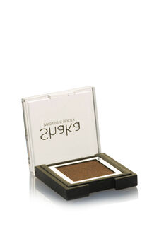 Compact eyeshadow with metal effect, Brown, hi-res