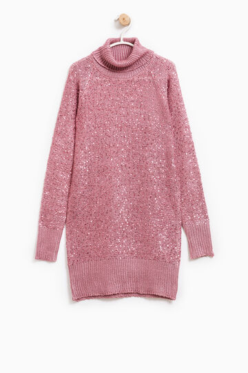 Pullover with sequins, Pink, hi-res