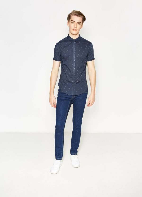 Slim-fit casual shirt with pattern | OVS