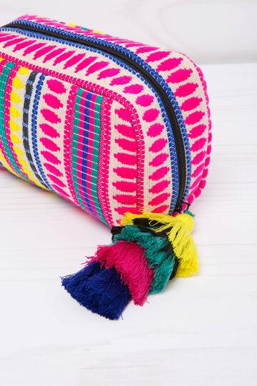 Pochette in cotone fantasia, Multicolor, hi-res