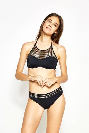Bandeau bikini bra with mesh