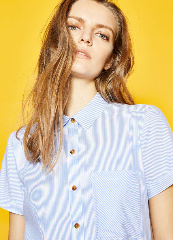 Patterned shirt with pocket | OVS