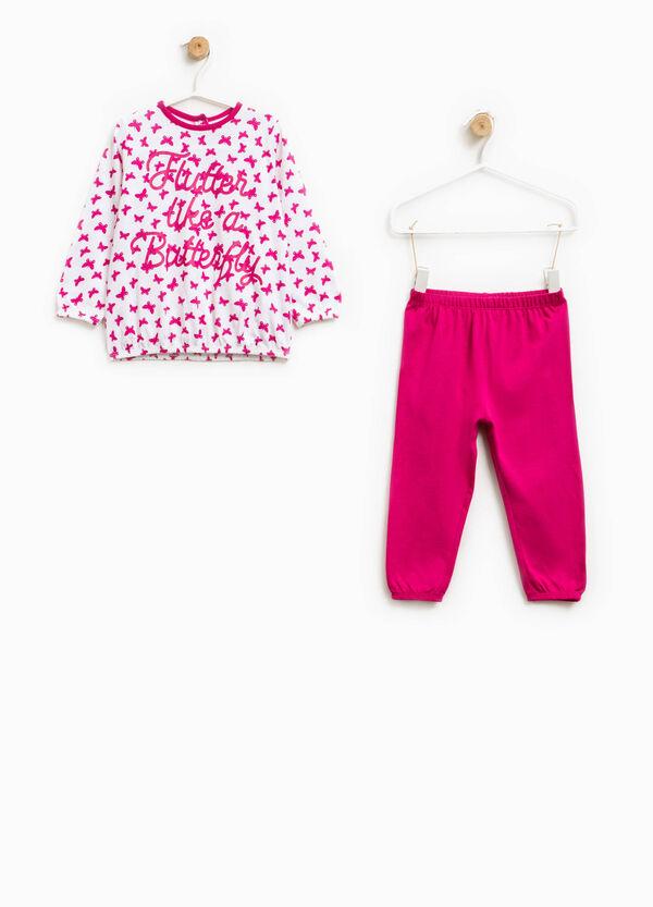 Cotton pyjamas with butterfly pattern | OVS