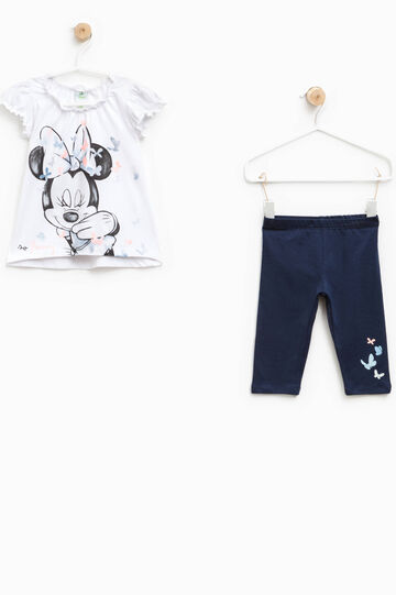 Minnie Mouse and butterflies outfit, White/Blue, hi-res