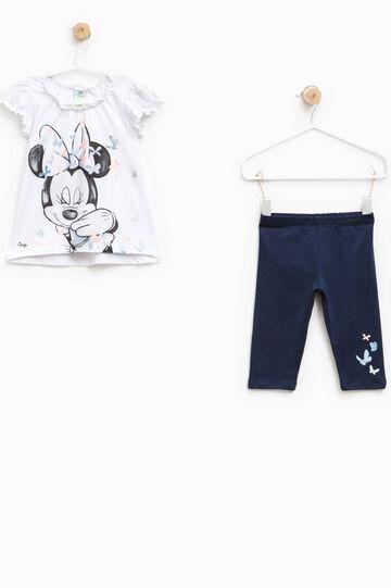 Conjunto con estampado de Minnie y mariposas, Blanco/Azul, hi-res