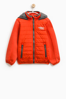 Windbreaker with high neck., Grey/Red, hi-res