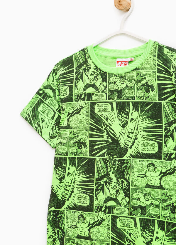 T-shirt with all-over Hulk print | OVS